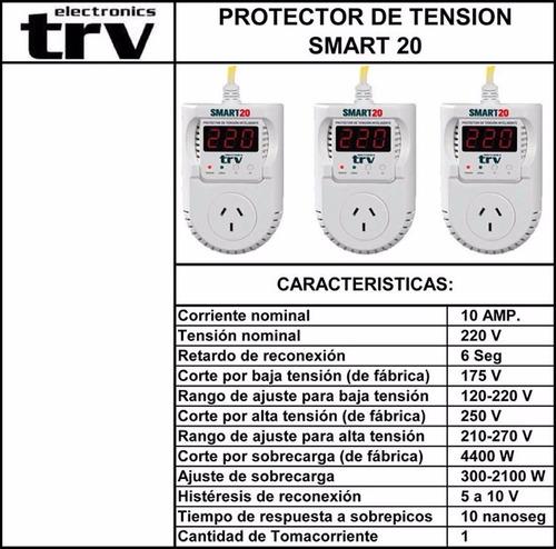 protector tensión inteligente trv smart 20 aire - frezeer