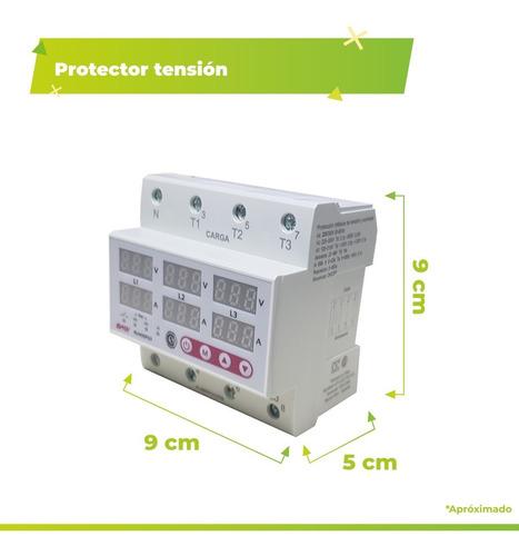 protector tensión trifásico 63a voltamperometrica baw