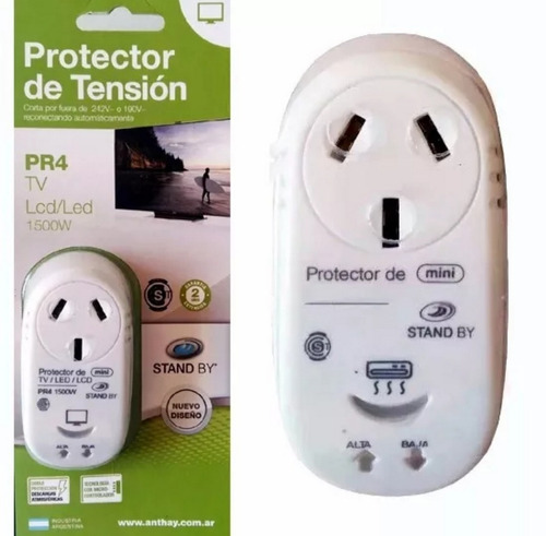 protector tension tv led smart tv pr4mini 1500w alta baja