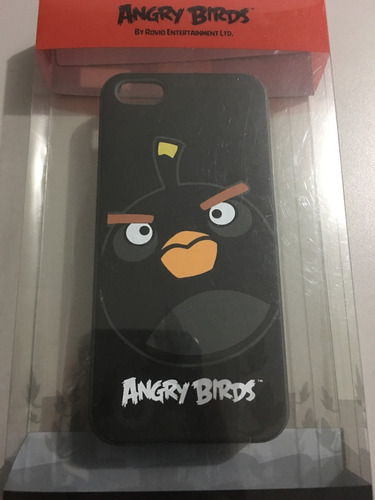 protector tpu cubierta case angry birds bomb iphone 5 5s