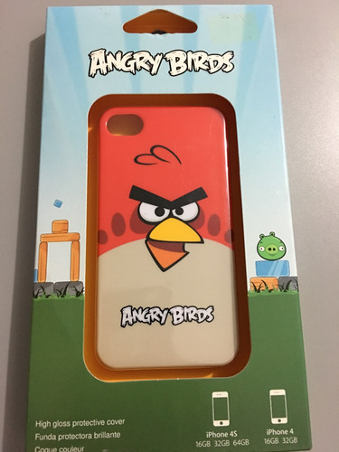 protector tpu cubierta case angry birds red iphone 4 4s
