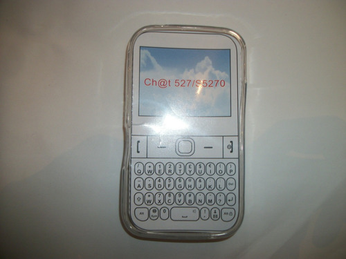 protector tpu samsung chat 2 s5270 color transparente!!!