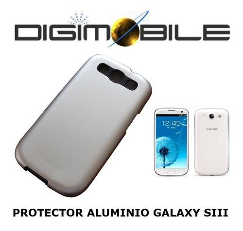 protector trasero de aluminio samsung galaxy s3 siii