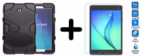 protector uso rudo + cristal para galaxy tab e 9.6 t560 t561