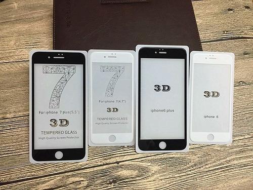 protector vidrio templado 3d iphone 6splus 7/7plus /x
