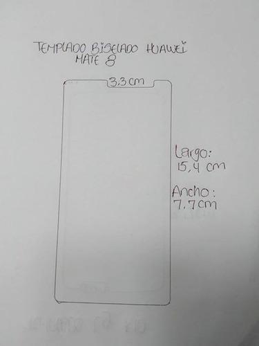 protector vidrio templado biselado huawei mate 8 original