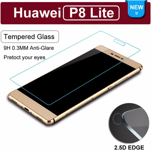 protector vidrio templado + bumper case lujo huawei p8 lite