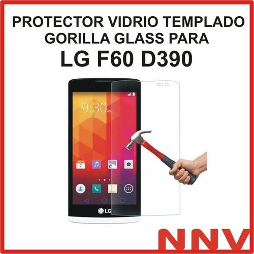 protector vidrio templado gorilla glass lg f60 d390 d390n