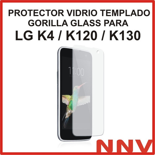 protector vidrio templado gorilla glass lg k4 k120 k130