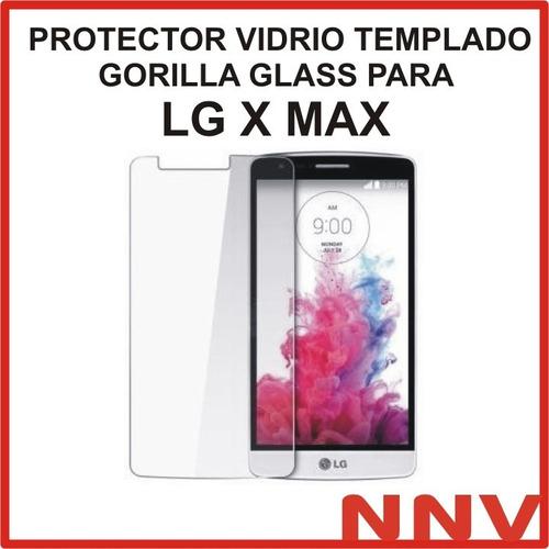 protector vidrio templado gorilla glass lg x max k240h