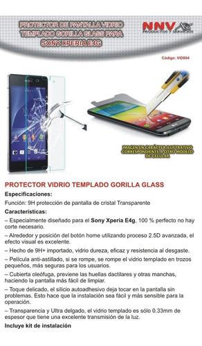 protector vidrio templado gorilla glass sony xperia e4g e 4g