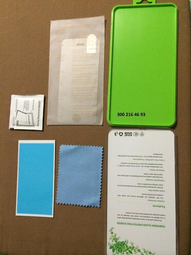 protector vidrio templado iphone 5 5s 5c resistente