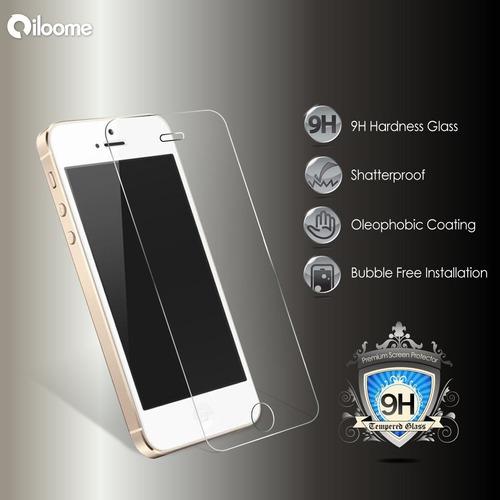 protector vidrio templado iphone 5 5s se 6 6s + instalación