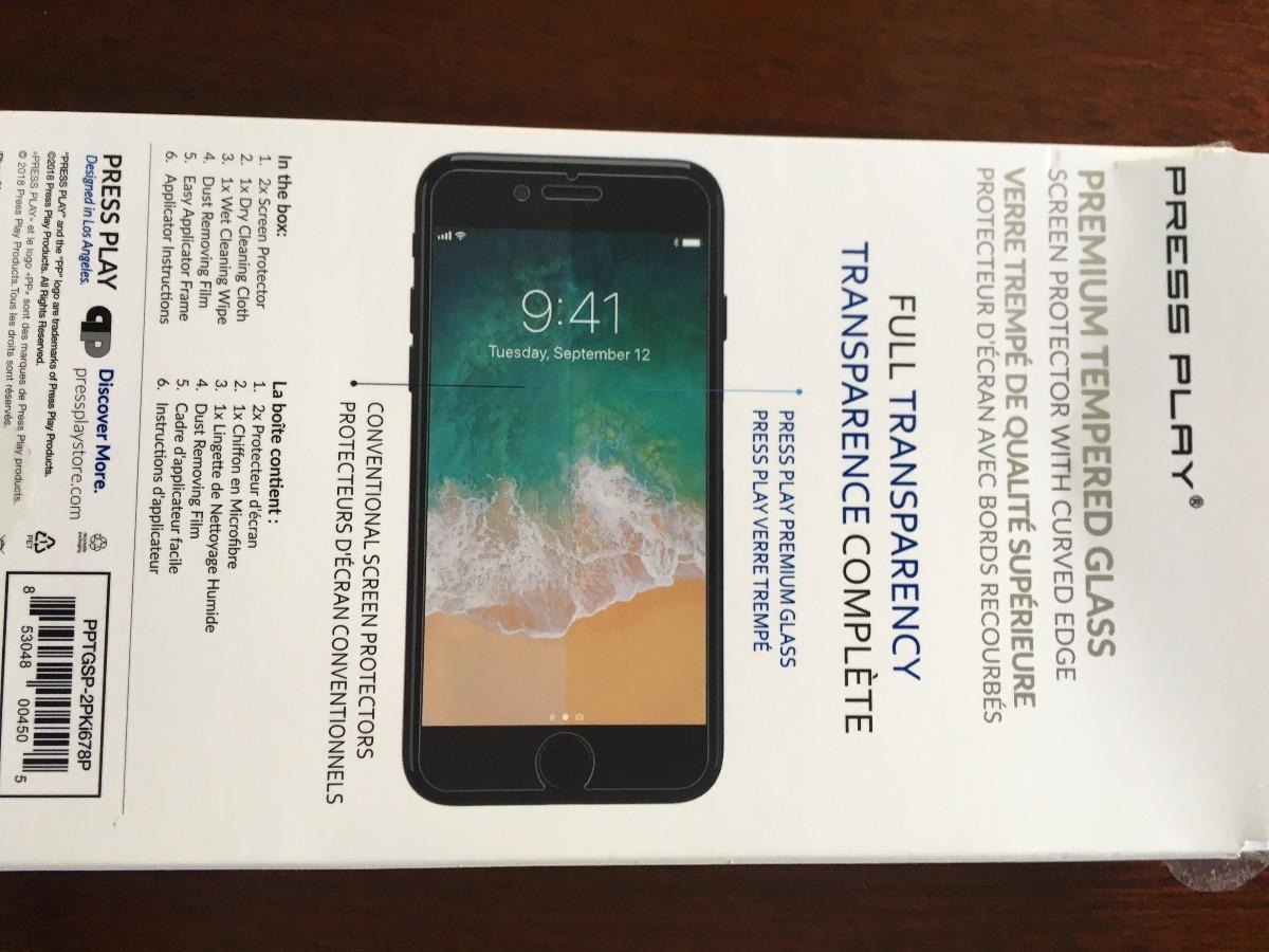 2x Protector Cristal Templado Para iPhone 5s 6s 7 8 X