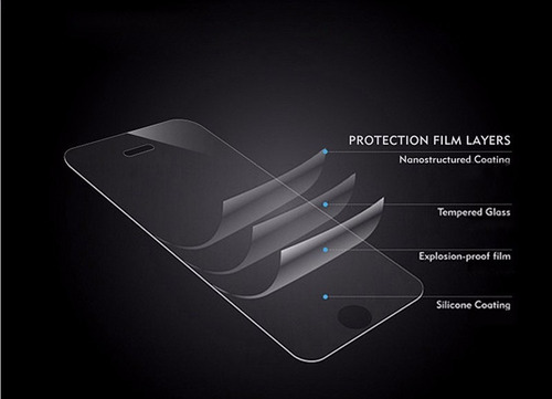 protector vidrio templado +silicona de lujo htc one a9