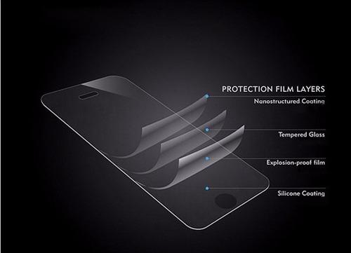 protector vidrio templado +silicona de lujo htc one m9