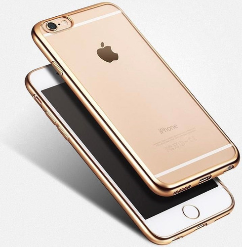 protector vidrio + tpu metalizado iphone 8 7 6s 5 5s se plus