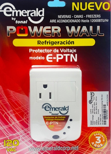 protector voltaje nevera aire acond emerald e-ptn 110v