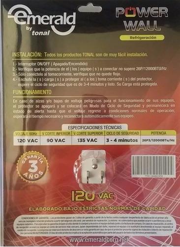 protector voltaje tonal 1 toma nevera freezer aire 110v a252