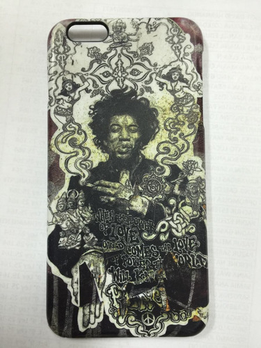 protector/cas iphone 6/6s plus jimmy hendrix orig usa único!