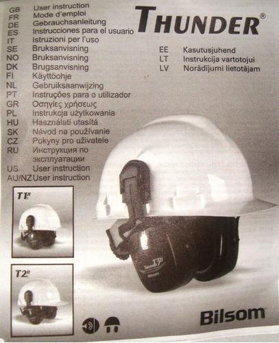 protectores auditivos de seguridad thunder 1, tapa oido casc