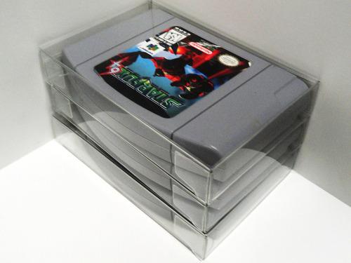 protectores cristalinos de pet para cartuchos de nintendo 64