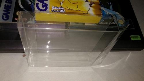protectores cristalinos de pet para juegos con caja de gba
