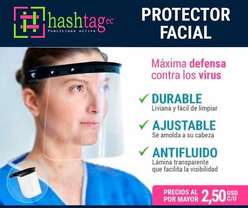 protectores faciales con ficha técnica para prevención covid