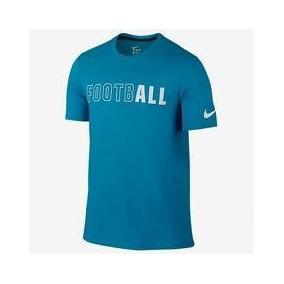1f82fe73ac334 Camiseta Nike Dri Fit Football Algodón Talla M Azul 715065