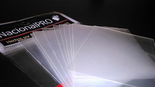 protectores p/ cartas nacional-pro x75 un. pokémon - magic z