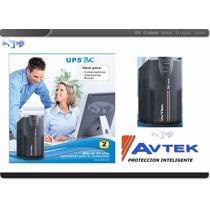 Ups Avtek Bk 600va Inteligente Con Regulador 2 Años Gntia St