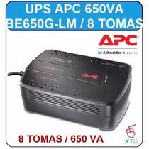 Ups Apc 650va 8 Tomas Backup Regulador De Voltaje