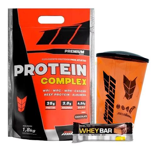 protein complex 1.800g - new millen + copo + brinde