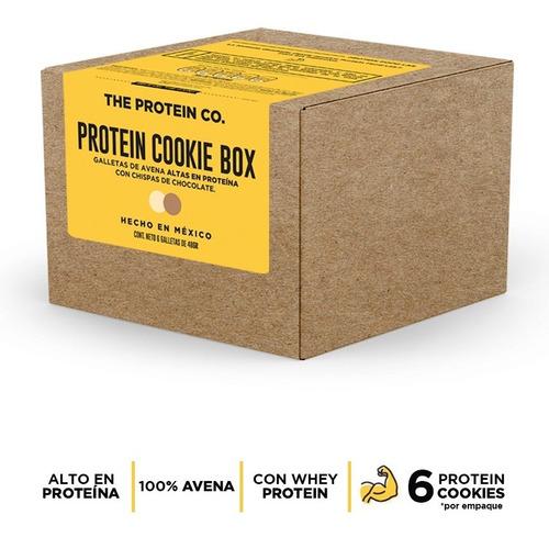 protein cookie box (6pz por caja) con avena y proteína whey