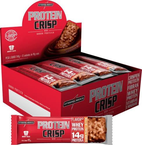 protein crisp bar cx 12un - integralmedica promoção