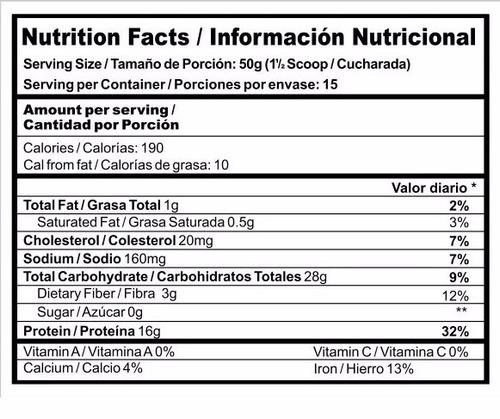 protein pancake con proteina de suero 750g envio gratis