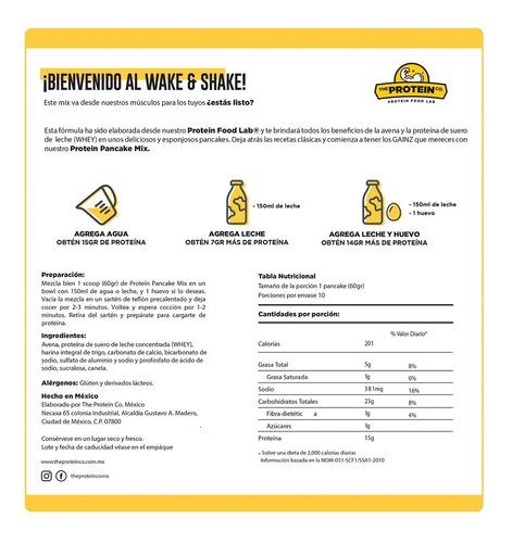 protein pancake mix (600gr) harina para hotcakes con protein