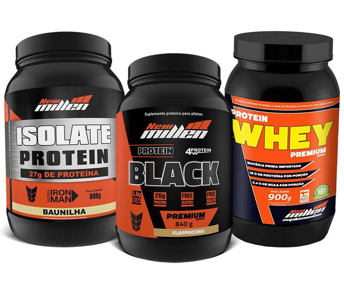 052251fa2 Características. Marca New Millen  Linha Premium  Nome Isolate Protein + Protein  Black ...