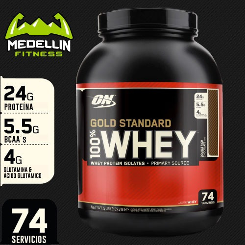 proteína 100% whey gold standard 5lb - optimum nutrition