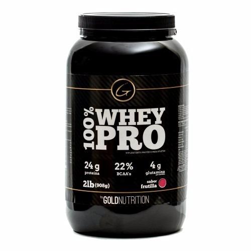 proteina 100% whey pro gold nutrition 908g sin saborizar