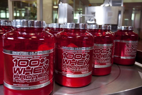 proteína 100% whey protein 5,2 lb. scitec nutrition
