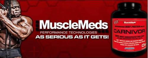 proteina carnivor musclemeds 4.1 lbs chocolate suplemento