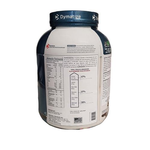 proteina dymatize iso 100 5 lb sabor galletas con crema