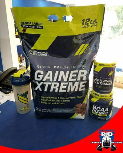 proteina gainer xtreme 12lbs glutamina bcaa $3900