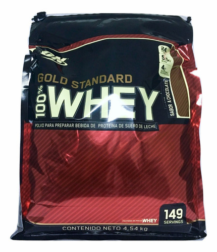 proteina gold standard 100% whey 10 lb sabor chocolate