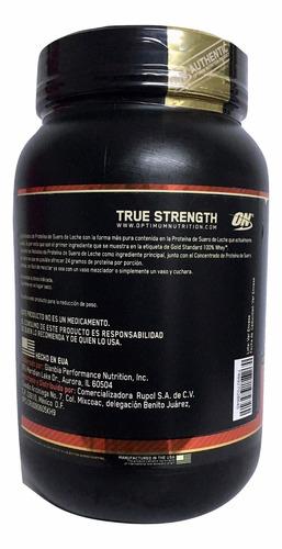 proteina gold standard 100% whey 2 lb sabor fresa