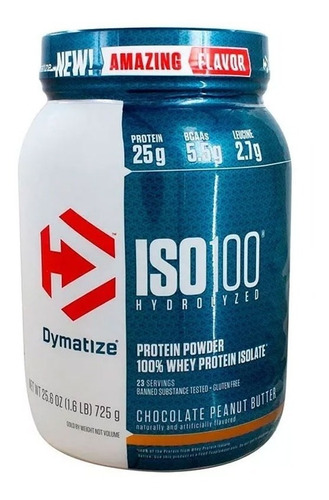 proteina iso 100 dymatize 5 lb (2.3kg ) varios sabores