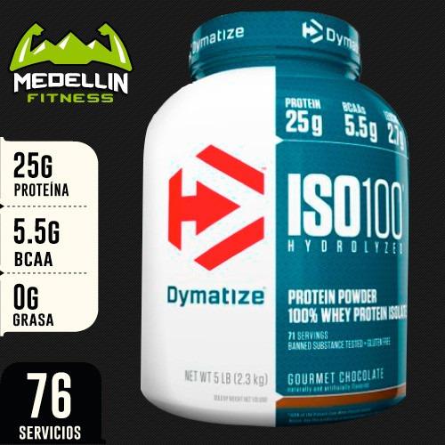 proteína iso 100 hidrolizada isolada 5lb - dymatize