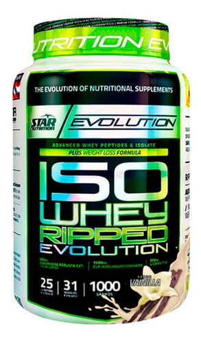 proteina iso whey ripped 1 kg star nutrition tonificacion