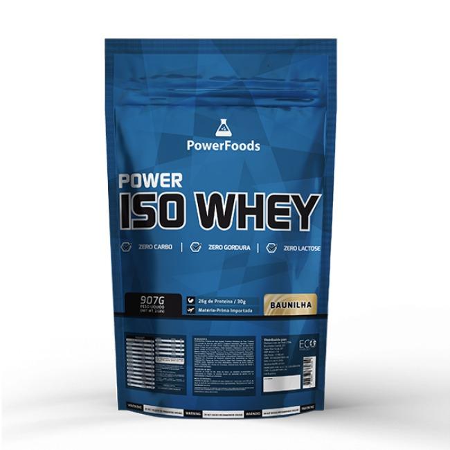 5acd0c0ef Proteina Isolada Power Iso Whey Zero Sem Lactose Power Foods - R ...